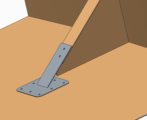 CAD Image showcasing replacement bracket