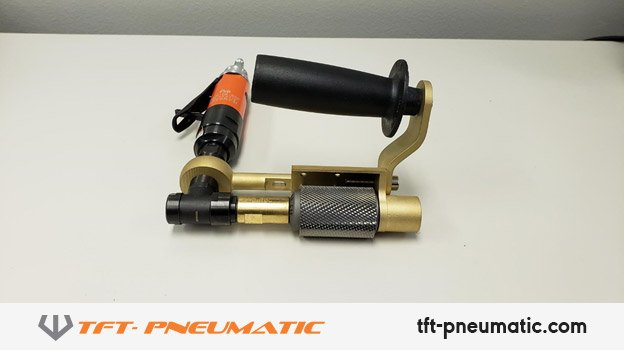 FAS-1X-50 Angle Grinder being used with A-0010 Roughboy File and A-0060RB Handle