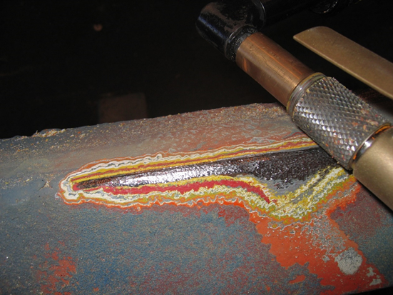 Feathered surface on multi coat paint system
