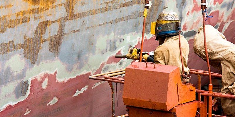 Surface Preparation in Shipyards